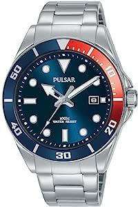 SEIKO 精工 UK Limited – EU 男式模拟日本石英脉冲潜水员手表不锈钢表链不锈钢表带 PG8291X1