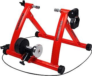 室内自行车训练器,磁性自行车固定支架,适用于室内锻炼骑行,便携,快速释放叉子和前轮增高架