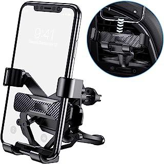 Dracool 汽车手机支架车载手机支架重力通用通风孔夹 360° 旋转自动锁免提汽车支架手机支架适用于 iPhone 12 11 Pro Max 7 8 SE Galaxy S21 S20 Ultra S10 Note 20