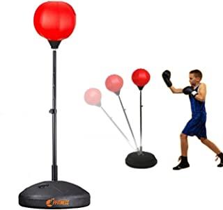 FFitness 儿童拳击球,带可拆卸底座和可调节杆   拳击袋用于训练。