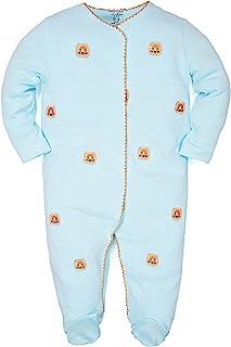 Minicoco 新生儿 Rpmper 连身衣,幼儿婴儿休闲长袖棉质连体连脚连体服,适合男孩和女孩