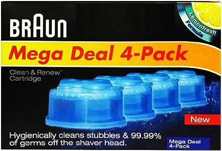 Braun 德国博朗CCR4 清洁液四盒装(原装进口 适用于博朗自动智能清洁中心 正品保证 香港直邮)