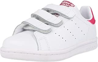 adidas Originals kids 阿迪达斯三叶草 ORIGINALS KIDS 女童 休闲运动鞋STAN SMITH CF C B32706 白/白/醒目粉 内长:195mm (UK 13-k)