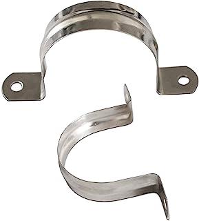 2.5 英寸(约 6.4 厘米)带 2 孔 U 支架不锈钢管带张力夹 U 支架刚性管带张力夹,用于管道固定(10 件)