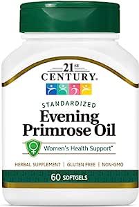 21st Century Evening Primrose Oil Softgels, 60 Count