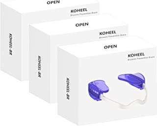 KOHEEL 磨牙护齿套 可调节牙套 夜间护齿套 适用于磨牙、防止磨牙、消除牙垢(3 件装)