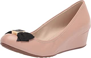 Cole Haan Womens Tali Leather Round Toe Wedge Pumps US