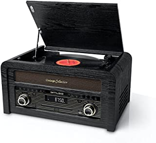Muse MT-115 CD 麦克风系统 带唱机和FM收音机(30个预设电台),木柜设计