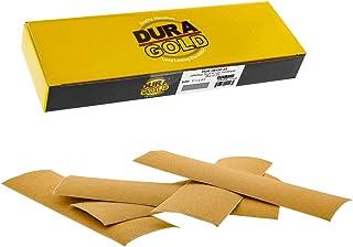 Dura-Gold - 高级 - 150 砂金 - 细节手工打磨钩和环砂纸纸 22.86 厘米 x 6.86 厘米适用于汽车和木工 - 2.86 厘米