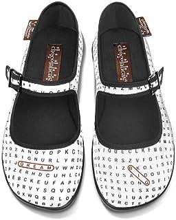 热巧克力设计巧克力字搜索女士 Mary Jane 平底鞋