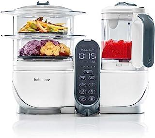 Babymoov Nutribaby Plus 5合1营养师认可的食品加工机,带蒸汽锅、多速搅拌机、婴儿泥机、加热器、除霜器