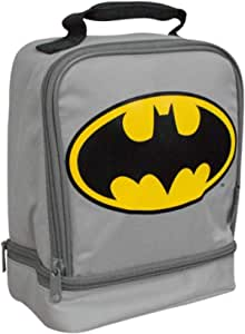 Thermos 双隔层午餐盒。 Batman Grey/Yellow 均码 Batman Lunch Box for Boys