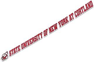 SUNY Cortland 名称标志乙烯基贴花笔记本电脑水瓶汽车剪贴簿(38.1 厘米贴纸)