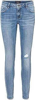 VERO MODA 女士紧身牛仔裤VMLYDIA 低腰。