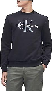 Calvin Klein 男士会标徽标圆领运动衫