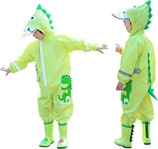 Freehawk 连体防雨服婴儿雨衣 婴儿 3D 卡通雨衣 幼儿儿童雨服 儿童 泥泞伙伴