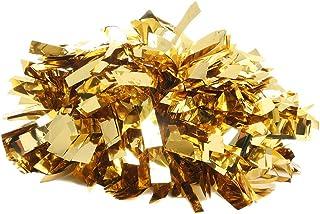 Just For Kix 4 英寸(约 10.2 厘米)纯色金属舞蹈和欢呼运动球 均码 Pom 适用于舞蹈和欢呼