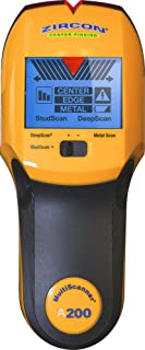 Zircon MultiScanner i520 墙式扫描仪/中心和边缘寻找木材和金属螺柱搜索器/金属探测器/实时交流定位器 Standard Display Metal Detection 69333