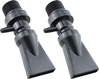 E-outstanding 塑料鱼缸水族箱泵鸭嘴出口和回流管管道接头黑色带通风口,2 件