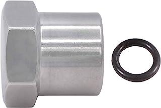 ICT 钢坯 M14-1.5mm Oring 插头/盖适用于 TBI/Vortec 87-98 卡车燃油回流管馈管 适合女性 M14-1.5 Oring 动力转向和燃料盖铝 FM1415PLUG