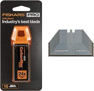 Fiskars 771010-1001 Pro CarbonMax 工具替换刀片 5 件装,银色 银色 每包10条 771020-1001