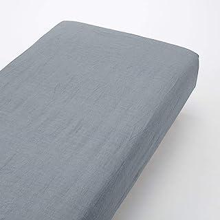 Muji 水洗棉双床垫套,200 厘米长x 140 厘米宽,*蓝