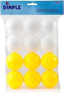 Dimple 儿童球 - 儿童运动软塑料投球机棒球,耐用轻便的儿童塑料玩具球,非常适合棒球、网球、高尔夫球、Whiffle 运动练习