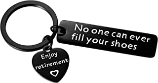 Aesnefe 小号退休礼物装饰男士同事没有人填满你的鞋子的钥匙链 退休女性老师邮工老板朋友
