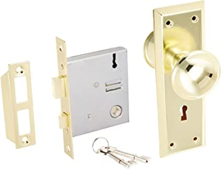 U ULTRA HARDWARE 44609 黄铜旧时光榫眼室内套装门锁,1.5 x 19.1 x 19.8 厘米(3)