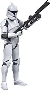 Star Wars 黑色系列*阶段克隆士兵玩具 6 英寸(约 15.2 厘米)比例克隆战争收藏可动公仔,适合 4 岁及以上儿童