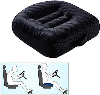 汽车增高座椅坐垫驾驶员姿势垫增高高度提升垫便携式汽车座椅垫适用于办公室、家庭(黑色)