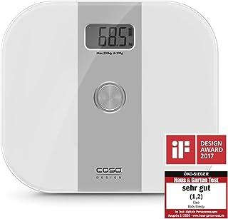 CASO Body Energy - 体重计,采用 Body Energy 技术设计的个人体重计,数字秤,无需电池,环保且可持续,*高承重 200 千克,以 100 克为单位秤重。