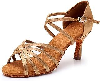 ZBVLGE 女士交际拉丁舞鞋,Salsa Patry Chacha 舞鞋女鞋