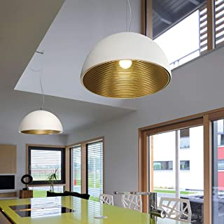 SLV 吊灯 FORCHINI | 可调光 LED 吸顶灯,适用于客厅、酒吧、餐厅的吊灯 | 独特设计的圆形顶灯(材质铝材,E27 灯泡,EEK E-A++,直径50厘米,白色/金色)