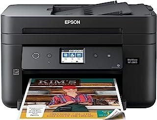 EPSON 爱普生 具有扫描仪,复印机,传真,以太网,Wi-Fi Direct和NFC的Workforce WF-2860多合一无线彩色打印机,启用了Amazon Dash补货