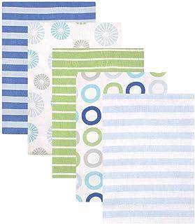 Luvable Friends 5 件套法兰绒裹毯套装 Blue Pinwheel