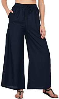 DREAM & DZIRE 女式人造丝阔腿裤,加大码 S 码