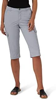 Lee 女士娇小弹性工装紧身七分裤