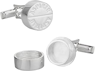 Cuff-Daddy 925 纯银Aspirin 袖扣适用于*,带礼盒