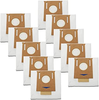 LemonQueen 一次性防尘袋适用于 ECOVACS Deebot T8 AIVI / T8 / N8 Pro Plus / N8 Pro / DX93 / DDX96 机器人真空吸尘器和拖把清洁器,10 包袋适用于 Ecovacs Dee...