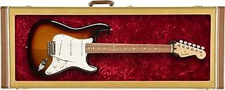 Fender® »GUITAR DISPLAY CASE - TWEED« 电吉他 - 带观察窗 - 颜色:斜纹/毛绒内衬 红色