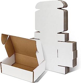 白色小号运输箱 17.78 x 12.78 x 5.08 厘米,白色瓦楞小纸板箱,用于运输,25 包