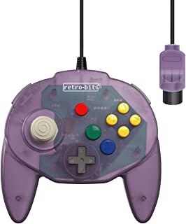 Retro-Bit Tribute 64 有线 N64 控制器 Nintendo 64 - 原装端口 - (原子紫色)