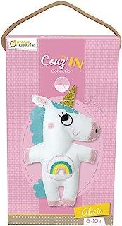 Avenue Mandarine KC066C 娃娃 Little Couz'In,缝纫套装(非常适合6岁以上儿童)1 件 Alicia 独角兽