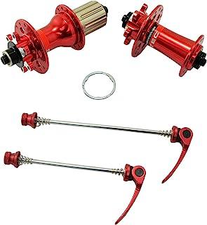 JOY INDUSTRIAL NOVATEC D791SB + D792SB MTB 28 孔圆盘集线器,带串,1 对,红色,NA2355