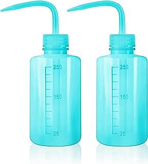 Oubest 挤压洗涤瓶 多汁浇水壶 蓝色喷水灌溉瓶 挤压洒罐 塑料清洗植物瓶 250ml 2 件