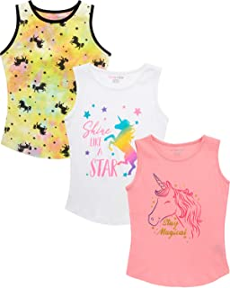 Dreamstar 女童背心 - 无袖性能 T 恤(3 件装)