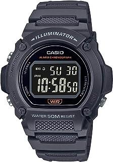 Casio 卡西欧 石英健身手表树脂表带,灰色,25.5(型号:W-219H-8BVCF)