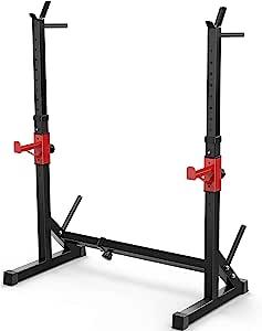PLKO 多功能深蹲压杠铃架蘸酱架,高度可调节杠铃,健身锻炼设备家庭健身房