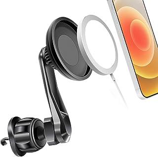 车载通风口支架兼容 Mag *支架,适用于 iPhone 12/12 Pro Max/12 迷你车载支架,适用于 Mag *充电器手机支架免提支架